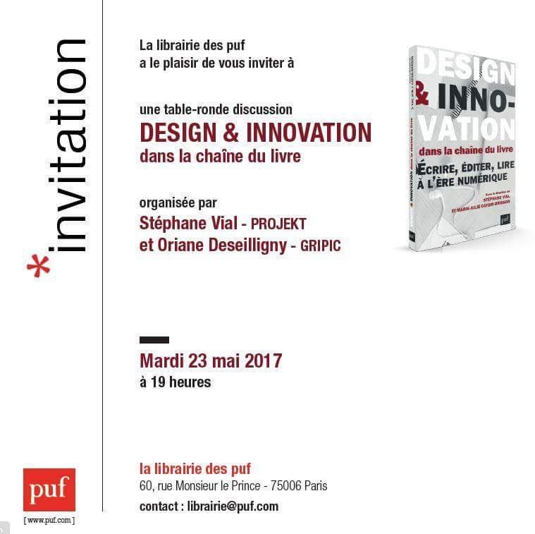 design innovation chaine du livre